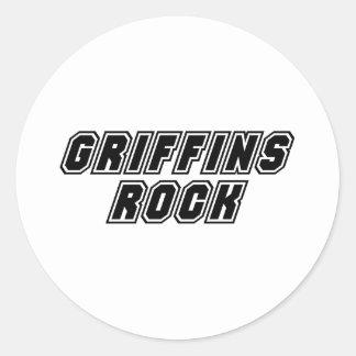 Griffins Rock Classic Round Sticker