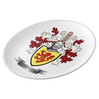 Griffith Family Crest Coat of Arms Plate