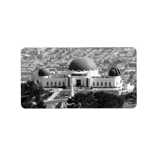 Griffith Observatory Label