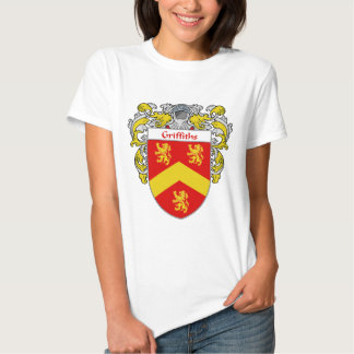 Griffiths Coat of Arms (Mantled) Tshirts
