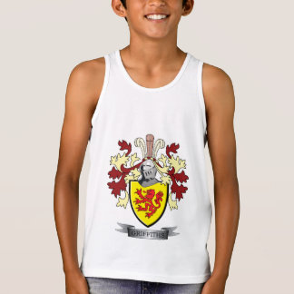 Griffiths Family Crest Coat of Arms Tank Top