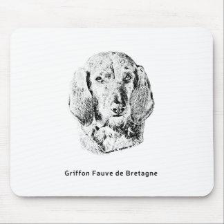 Griffon Fauve de Bretagne Drawing Mouse Pad