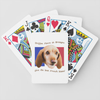 Griffon Fauve de Bretagne Give Best French Kisses Bicycle Playing Cards