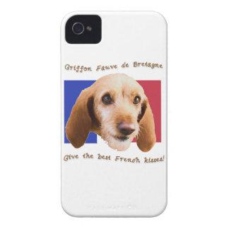 Griffon Fauve de Bretagne Give Best French Kisses iPhone 4 Case-Mate Cases
