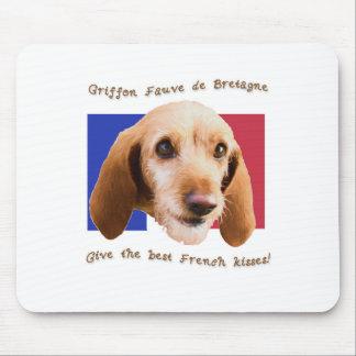 Griffon Fauve de Bretagne Give Best French Kisses Mouse Pad