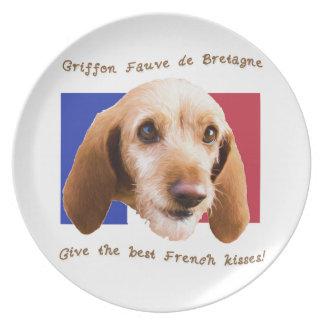 Griffon Fauve de Bretagne Give Best French Kisses Plate