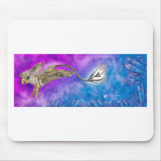 griffon griffin grypon blue purple crystal cute mouse pad