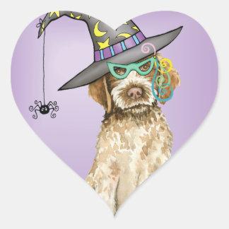 Griffon Witch Heart Sticker