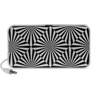 Griffonnage avec la conception noire et blanche haut-parleurs iPod