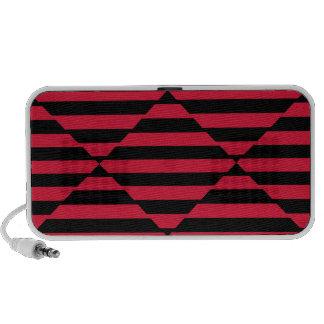 Griffonnage avec la conception noire et rouge haut-parleur mobile