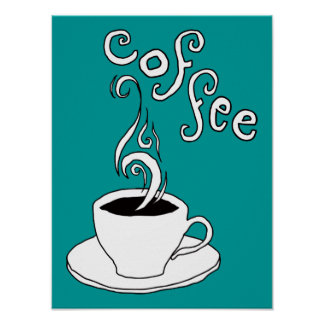 griffonnages de café poster