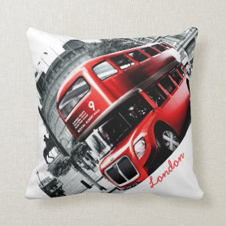 "GRIG-STYLE London BusThrow Pillow 16"" x 16"""