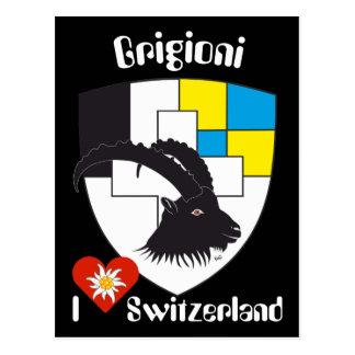 Grigioni Svizzera postcard
