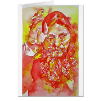 grigori rasputin - watercolor portrait.4 card