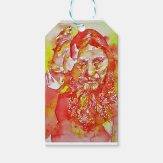 grigori rasputin - watercolor portrait.4 gift tags
