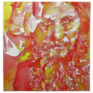 grigori rasputin - watercolor portrait.4 napkin