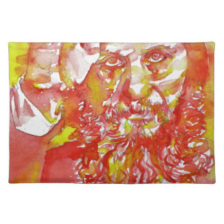 grigori rasputin - watercolor portrait.4 placemat