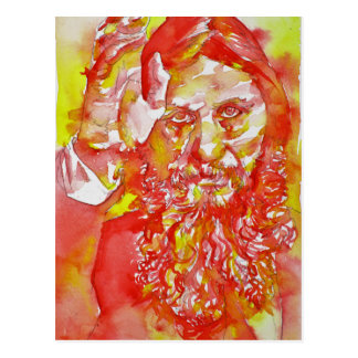 grigori rasputin - watercolor portrait.4 postcard