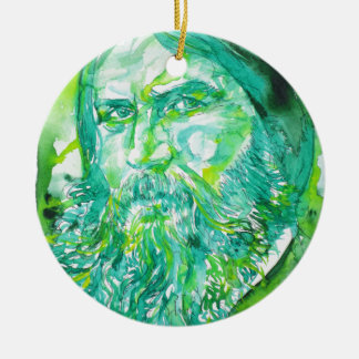 grigori rasputin - watercolor portrait.5 ceramic ornament