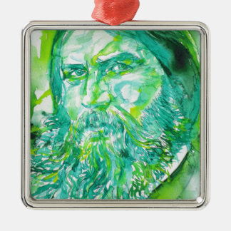 grigori rasputin - watercolor portrait.5 metal ornament