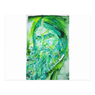 grigori rasputin - watercolor portrait.5 postcard