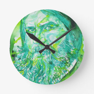 grigori rasputin - watercolor portrait.5 round clock