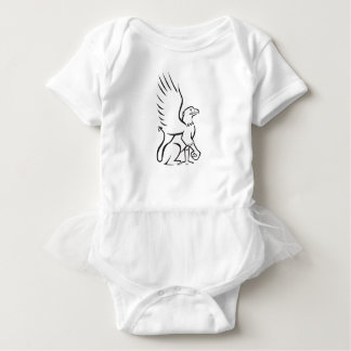 Griiffin Sitting Side Retro Baby Bodysuit