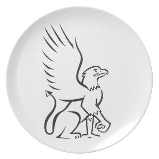 Griiffin Sitting Side Retro Plate