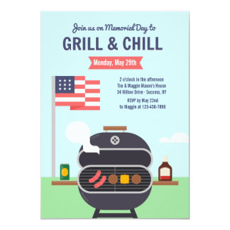 Grill and Chill Invitation