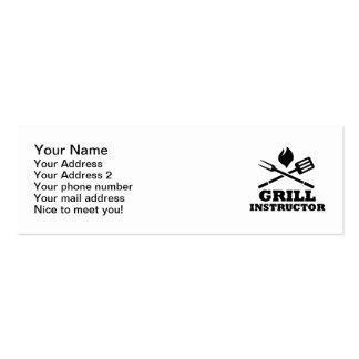 Grill BBQ Instructor Mini Business Card