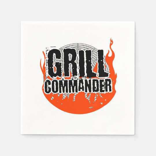 Grill Commander BBQ Barbecue Cooking Paper Napkin