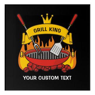 Grill King Acrylic Wall Art
