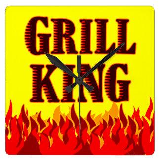 Grill King BBQ Flames Wall Clock