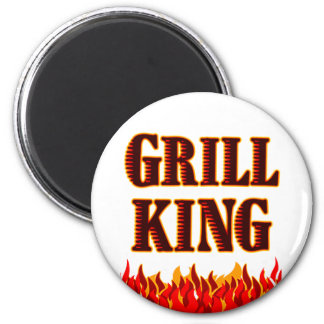 Grill King BBQ Saying Magnet Refrigerator Magnet