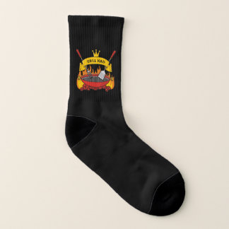 Grill King Black Shocks Socks