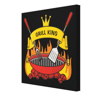 Grill King Canvas Print