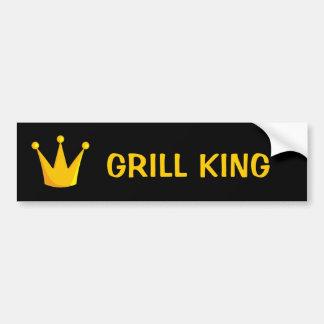 Grill King Crown Bumper Sticker