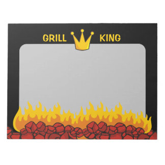 Grill King Crown Notepad