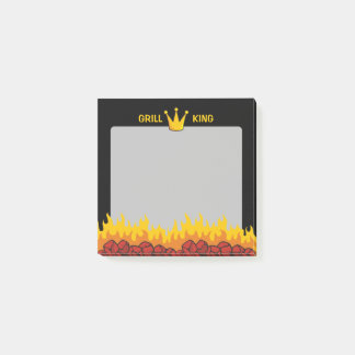 Grill King Crown Post-it Notes