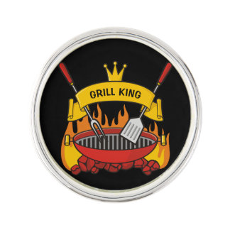 Grill King Lapel Pin