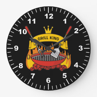 Grill King Large Clock