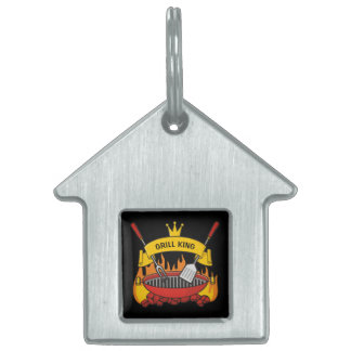 Grill King Pet Name Tag