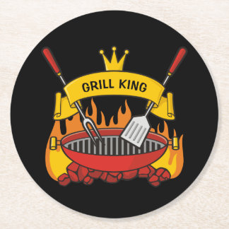 Grill King Round Paper Coaster