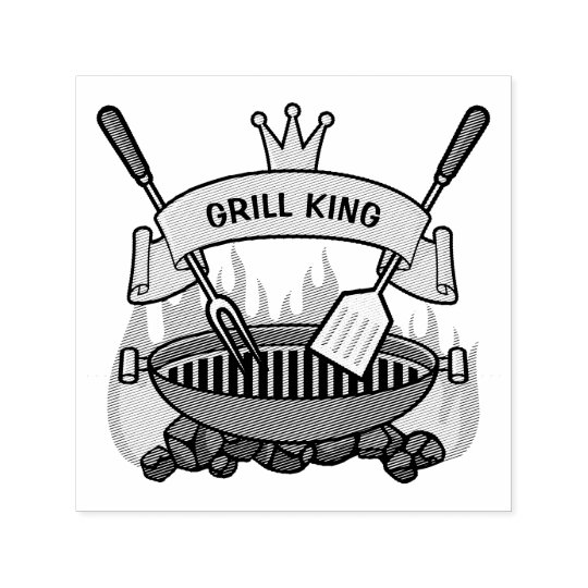 Grill King Self-inking Stamp