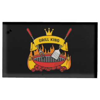 Grill King Table Card Holder