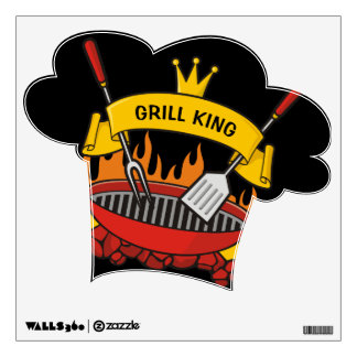 Grill King Wall Decal