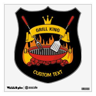 Grill King Wall Sticker