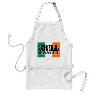 Grill master apron | Irish flag background