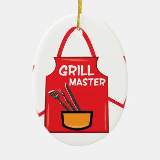 Grill Master Ceramic Ornament