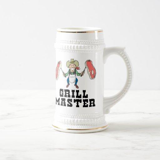 Grill Master Cowboy Coffee Mug